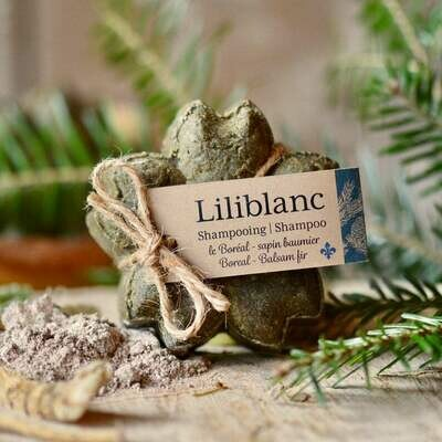 Liliblanc -Shampoing Solide Boréal / Sapin baumier