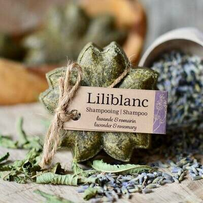Liliblanc -Shampoing Solide Lavande & Romarin