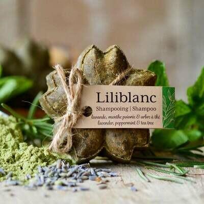 Liliblanc -Shampoing Solide Lavande, menthe poivrée & arbre à thé