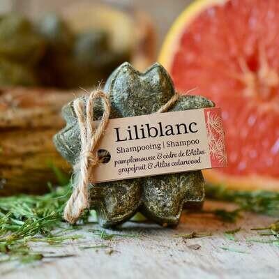 Liliblanc -Shampoing Solide Pamplemousse & cèdre de l'Atlas