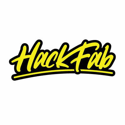 HackFab logo sticker