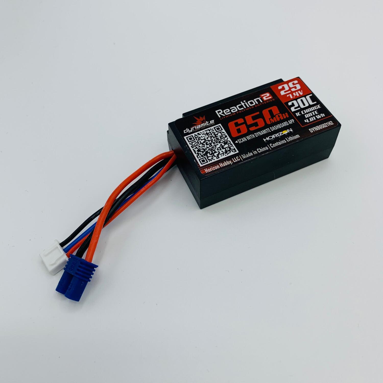 Losi Dynamite Reaction 650mah Lipo Battery For Mini-t 2.0/mini B