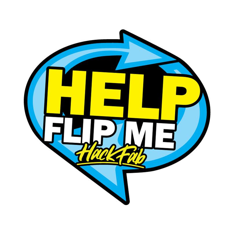 HackFab HELP Marshal sticker