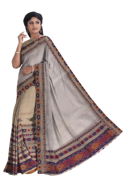 Ready To Wear Mekhela Sador in Chanderi Supernet
