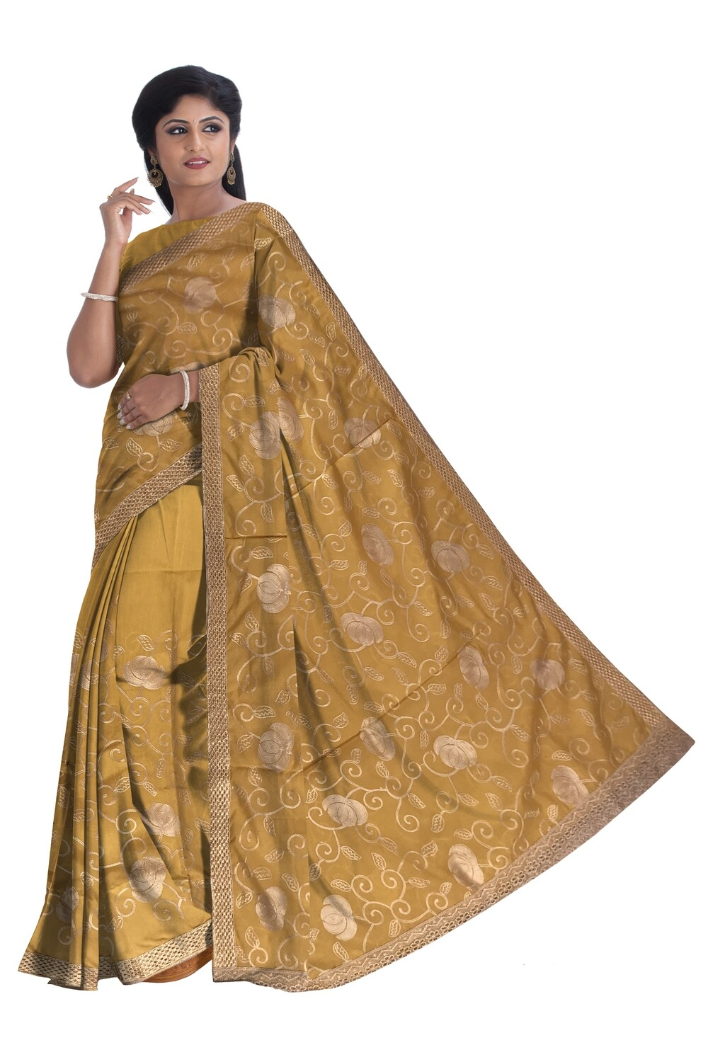Ready to wear Mekhela Chador with Heavy Embroidery