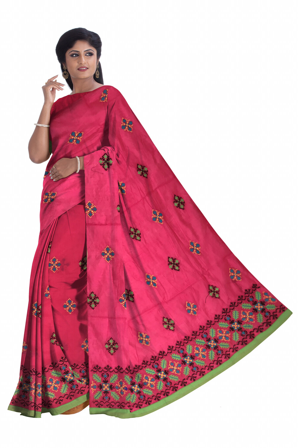 Ready To Wear Mekhela chador with Kashmiri thread work