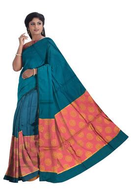 Ready To Wear Hand printed Mekhela Sador in Art Ghisa Silk