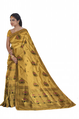All over work Poly Pat Mekhela Sador (Ready to wear)
