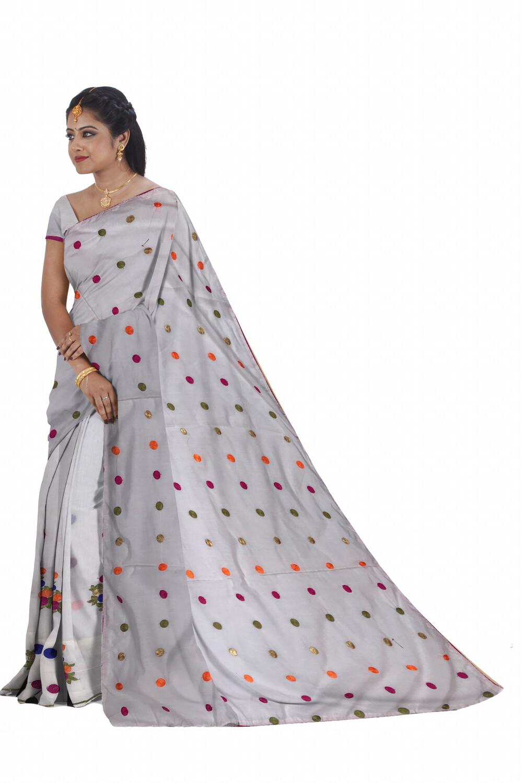 Ready To Wear Malai Cotton Mekhela Sador