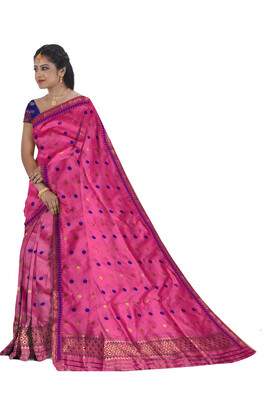 Hazar buti Poly Pat Mekhela Sador (Ready to wear)