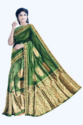 Gorgeous Ready to wear Semi Paat (Mulberry Silk) Mekhela sador with heavy  guna work including Blouse piece
