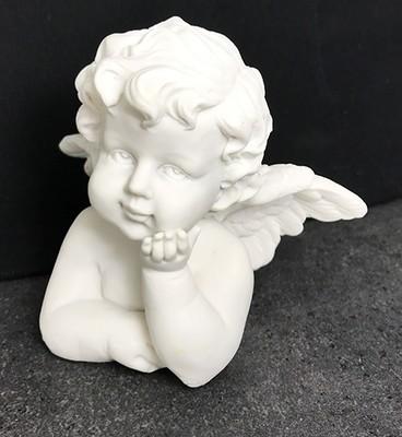 Enkeli-figuuri, valkoinen