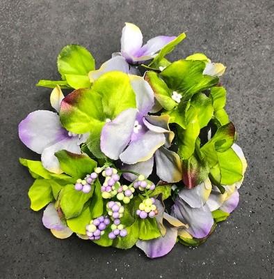 Hortensia-kukkapää, vihreä/siniharmaa