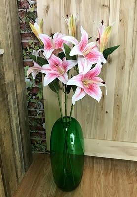 Upea lilja 3-kukkainen, vaaleanpunainen