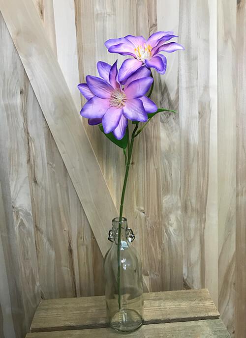 Kärhö 2-kukkainen, vaaleanpunainen/violetti