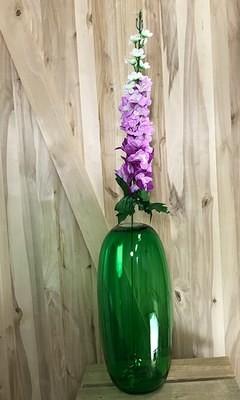 Ritarinkannus, violetti/valkoinen