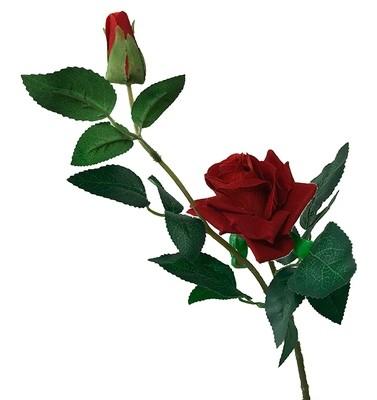 Juhannusruusu silkkikukka punainen
