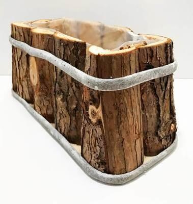 ISO puinen kukkaruukku 34cm