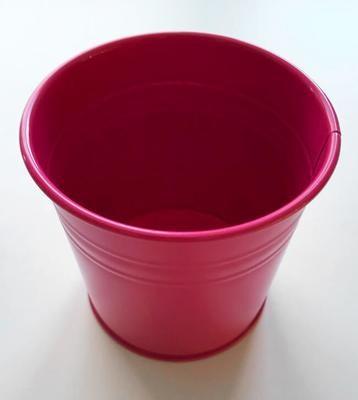 Kukkapurkki peltinen, pinkki