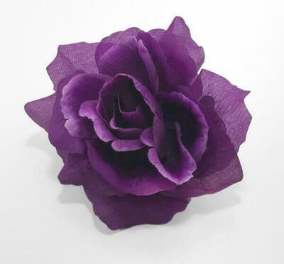 Pensasruusu-kukkapää, violetti