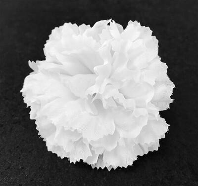 Neilikka-kukkapää, valkoinen