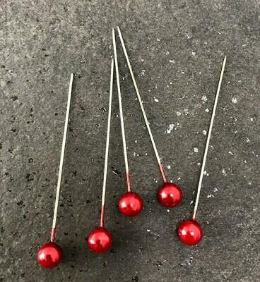 Helmipiikki 5kpl, punainen