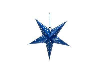 Koristetähti sininen 40cm