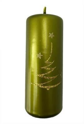 Kynttilä vihreä 15cm