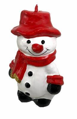 Suloinen lumiukkokynttilä 15cm