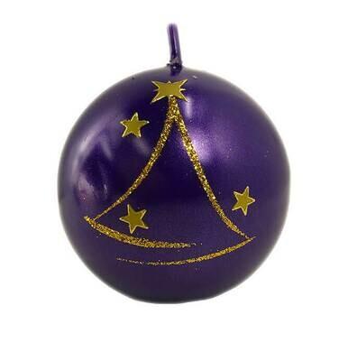 Pallokynttilä violetti Ø8cm