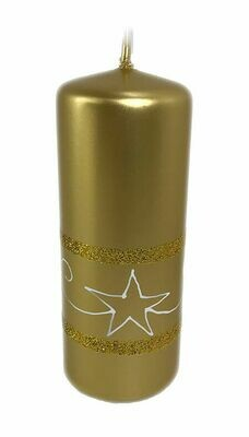 Kynttilä tähtikuviolla 15cm kulta