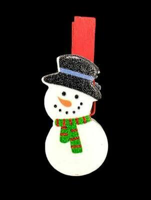 Lumiukko-koriste klipsillä