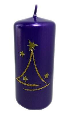 Violetti kynttilä 13cm