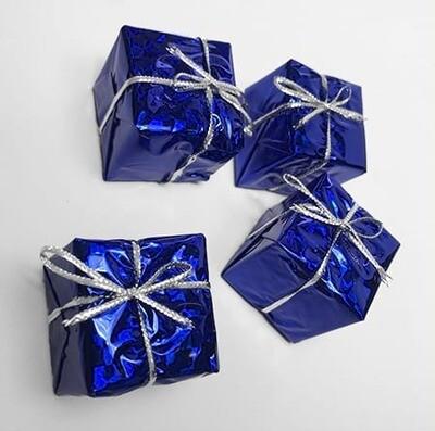 Lahjapaketti 4kpl, sininen