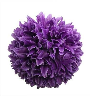 Krysanteemi-kukkapää, tumma violetti