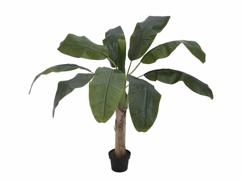 Banaanipuu tekokasvi ruukussa 100cm