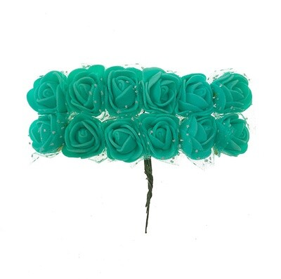 Softisruusu pieni 12kpl, mintun vihreä