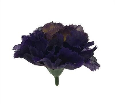 Neilikka-kukkapää, tumma violetti/keltainen
