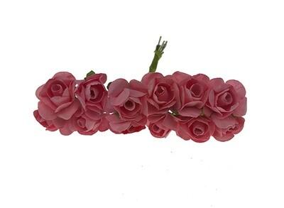 Paperiruusu 12kpl, rosa