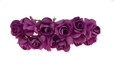Paperiruusu 12kpl, violetti