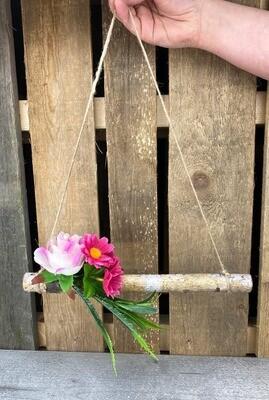 Ovi-/seinäkoriste, vaaleanpunainen