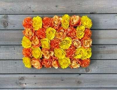 Näyttävä kukkaseinä DIY