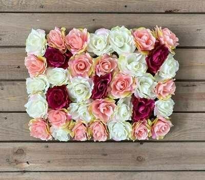Kukkaseinä ruusuilla DIY
