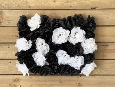 Musta-valkoinen kukkaseinä DIY