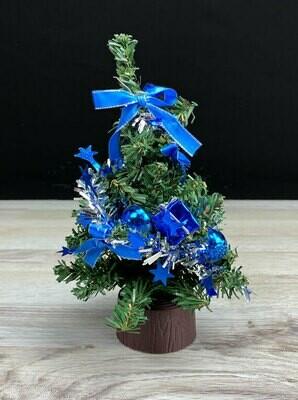 Minikuusi 20cm siniset koristeet