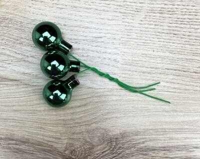 Lasipallot 3kpl, vihreä