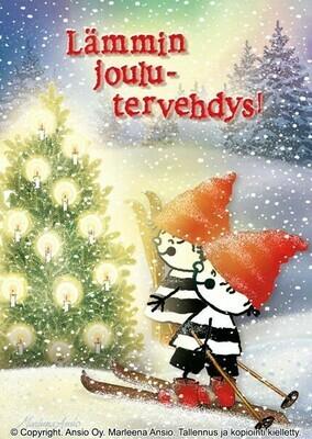 Joulukortti Marleena Ansio: joulukaverit