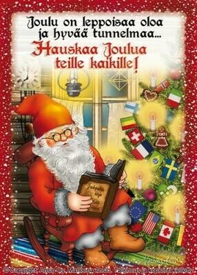 Joulukortti Marleena Ansio: joulupukki