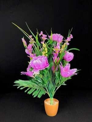 Silkkikukka kimppu, violetti