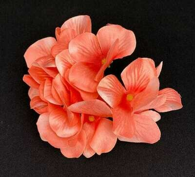 Hortensia kukkaosa, rosa